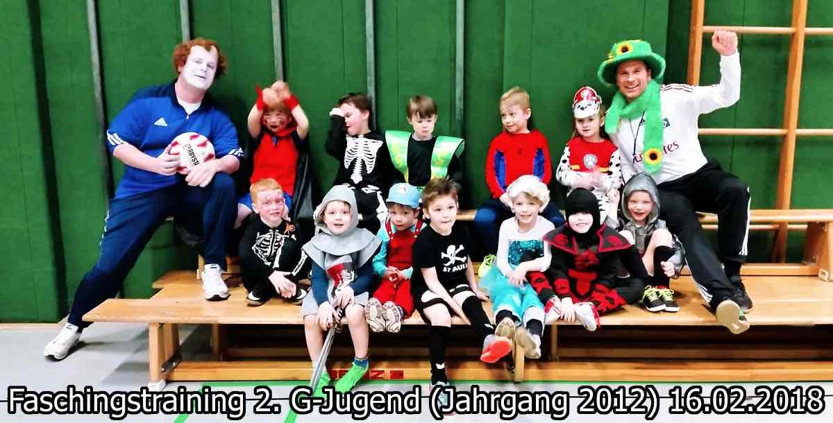 Faschingstraining der G-Jugend