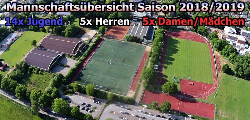 Mannschaftsübersicht Saison 2018/2019