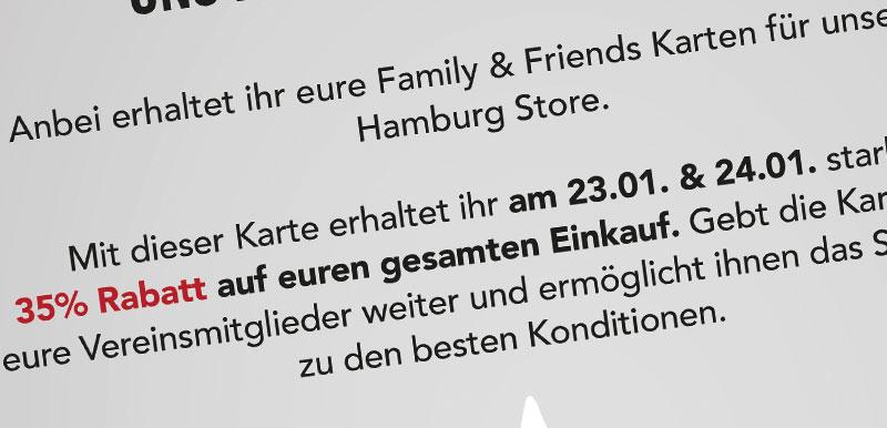 Family & Friends Sale für unsere Mitglieder