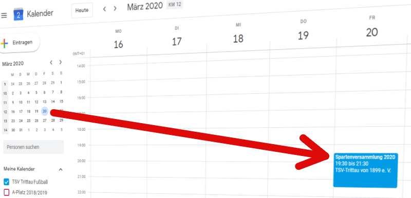 Einladung Spartenversammlung 2020