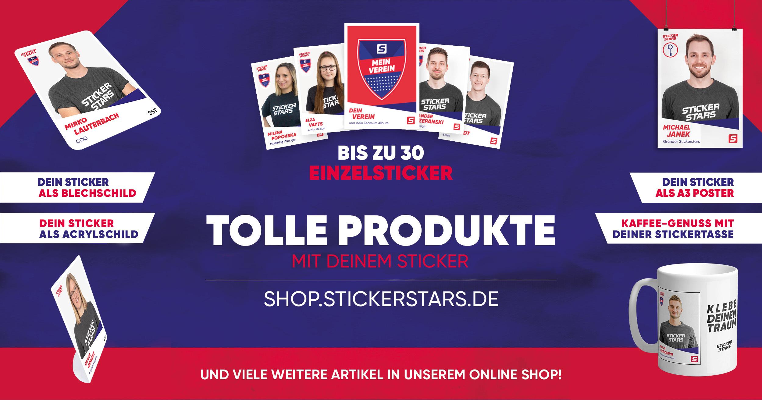 Sticker-Verkauf eröffnet